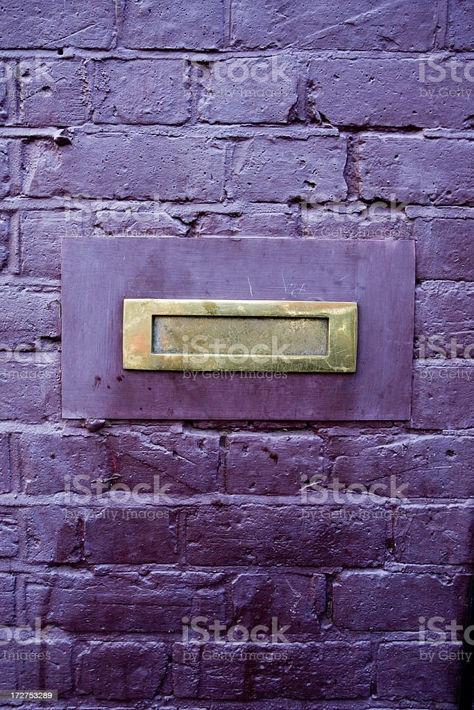 Letterbox on Purple royalty-free stock photo
