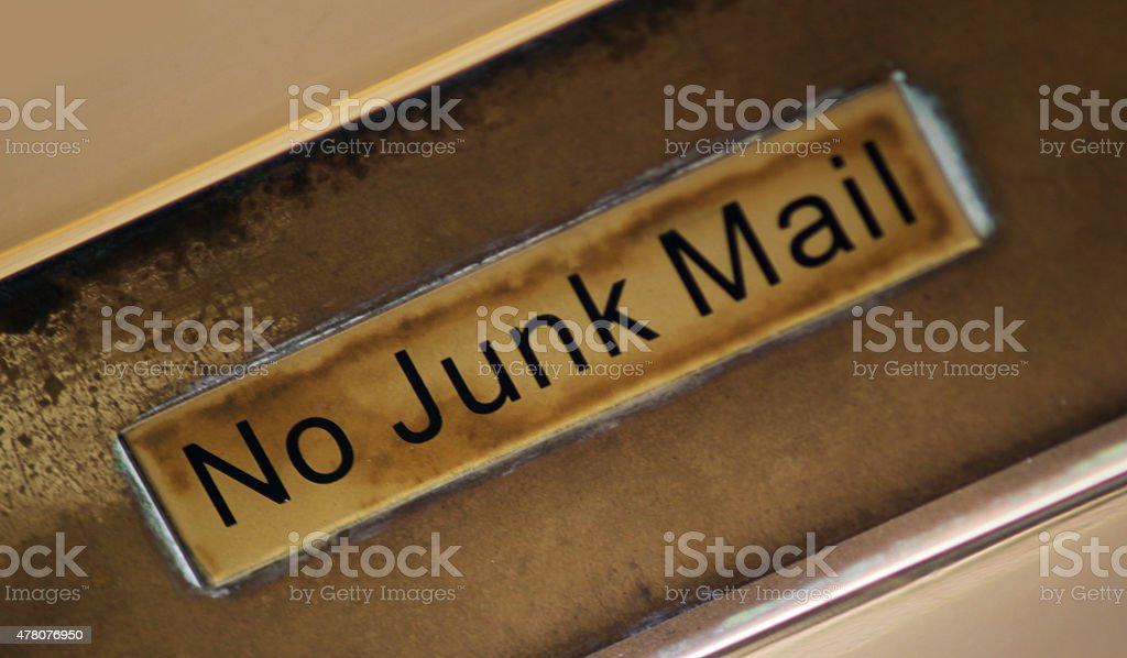 Letterbox Sign stock photo
