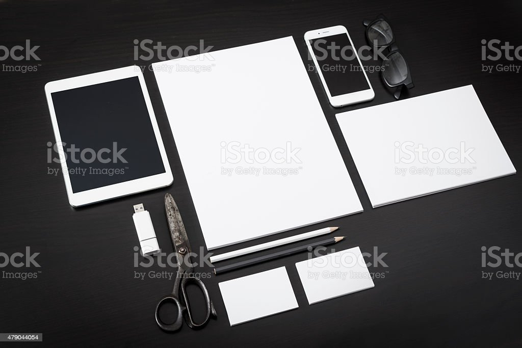 Letterhead design mockup stock photo