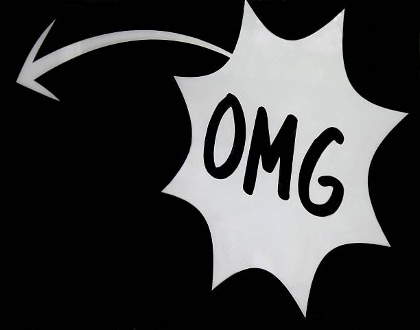 omg lettering on black background - omg stock photos and pictures