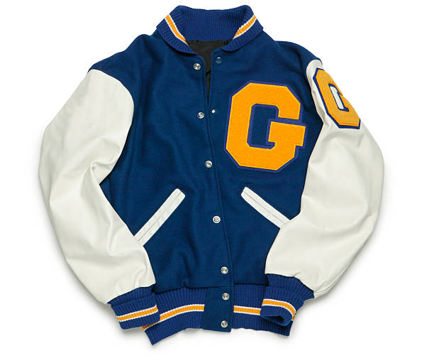 la giacca varsity - giacca foto e immagini stock