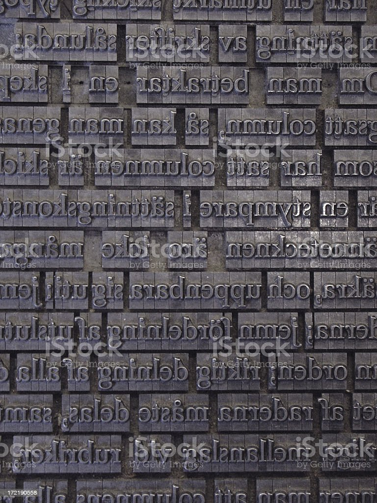 letterpress 3 royalty-free stock photo