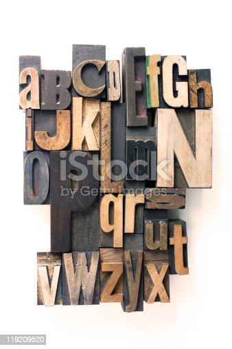 istock letterpress alphabet 119209520