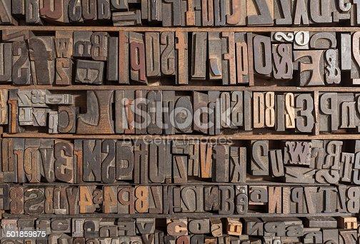 istock Letterpress alphabet 501859875