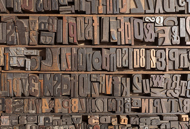 letterpress alphabet - letterpress stock photos and pictures