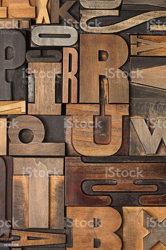 Letterpress background royalty-free stock photo