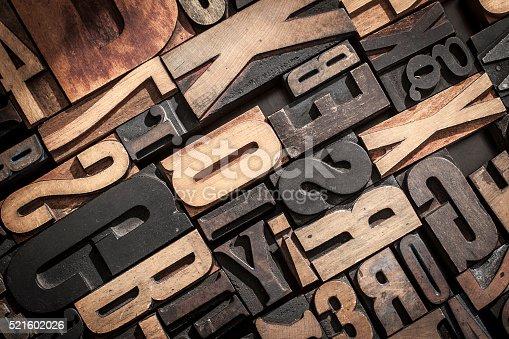 istock Letterpress Blocks Background 521602026