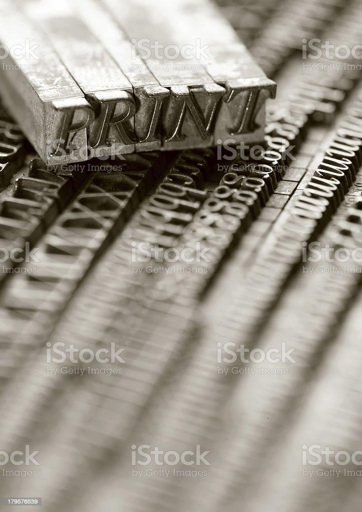 Letterpress blocks royalty-free stock photo