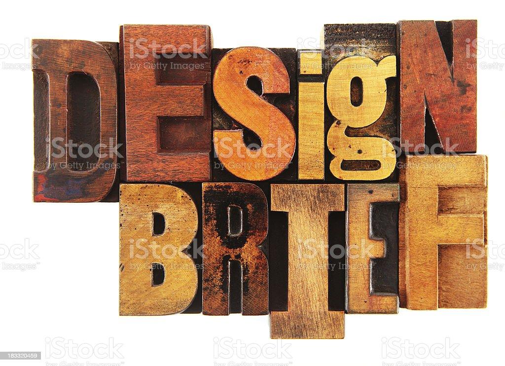Letterpress - Design Brief royalty-free stock photo