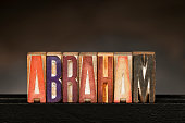 istock Letterpress Letters: Abraham 472051423