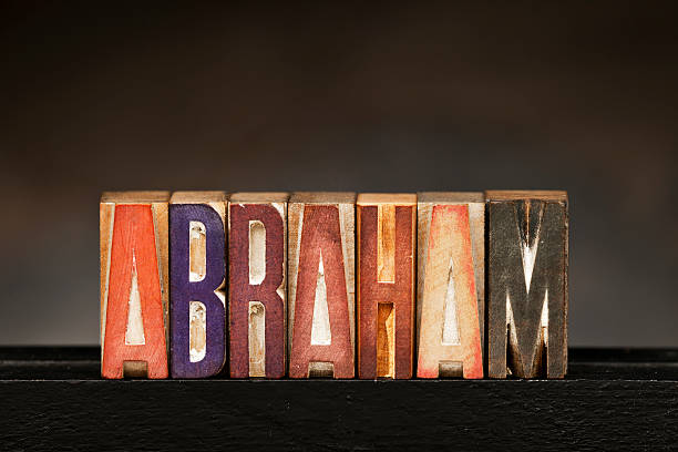 Letterpress Letters: Abraham The word ABRAHAM spelled out with vintage letterpress wood block letters. Abraham stock pictures, royalty-free photos & images