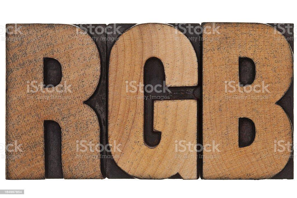RGB - Letterpress Letters royalty-free stock photo