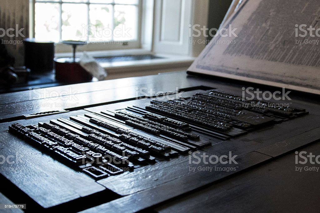 Letterpress Machine stock photo