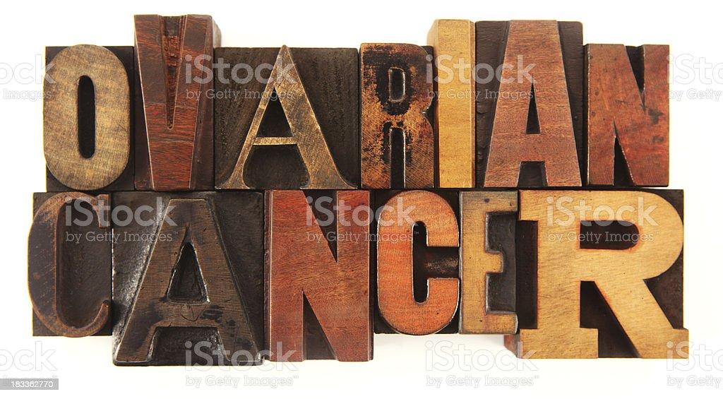 Letterpress - Ovarian Cancer stock photo