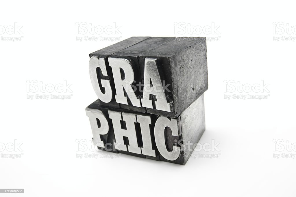 GRAPHIC  letterpress royalty-free stock photo