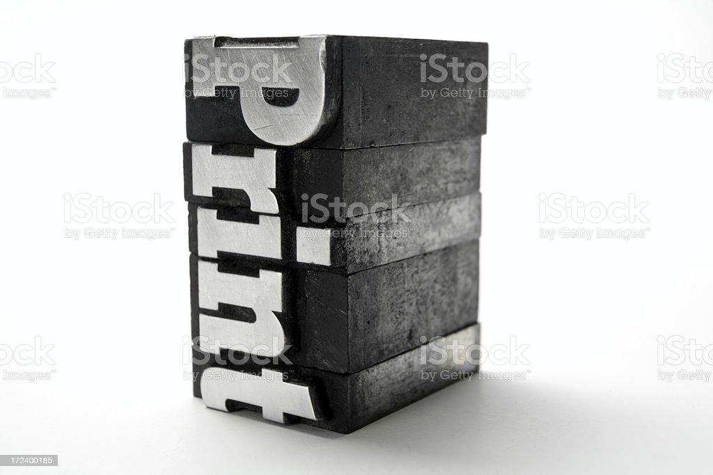 PRINT  letterpress stock photo