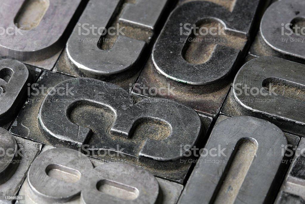 letterpress royalty-free stock photo