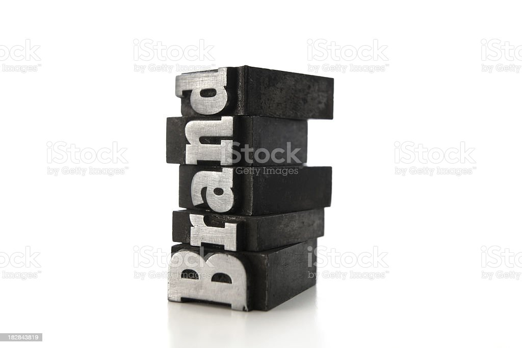 BRAND letterpress (serie of images) royalty-free stock photo