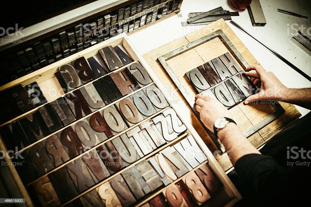 Letterpress Printing stock photo