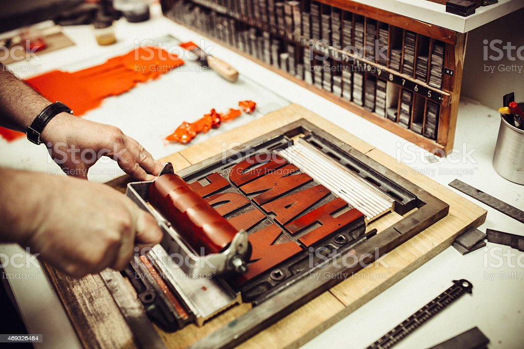 Letterpress Printing stock photo
