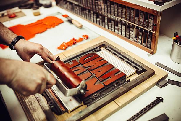 活版印刷の印刷 ストックフォト