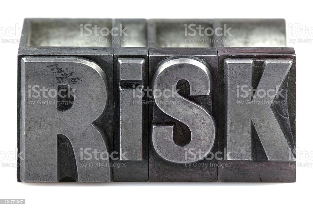 Letterpress Risk royalty-free stock photo