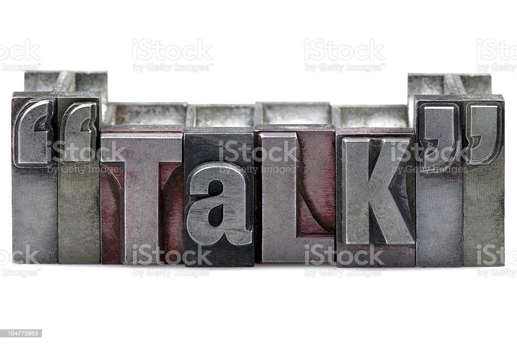 Letterpress Talk royalty-free stock photo