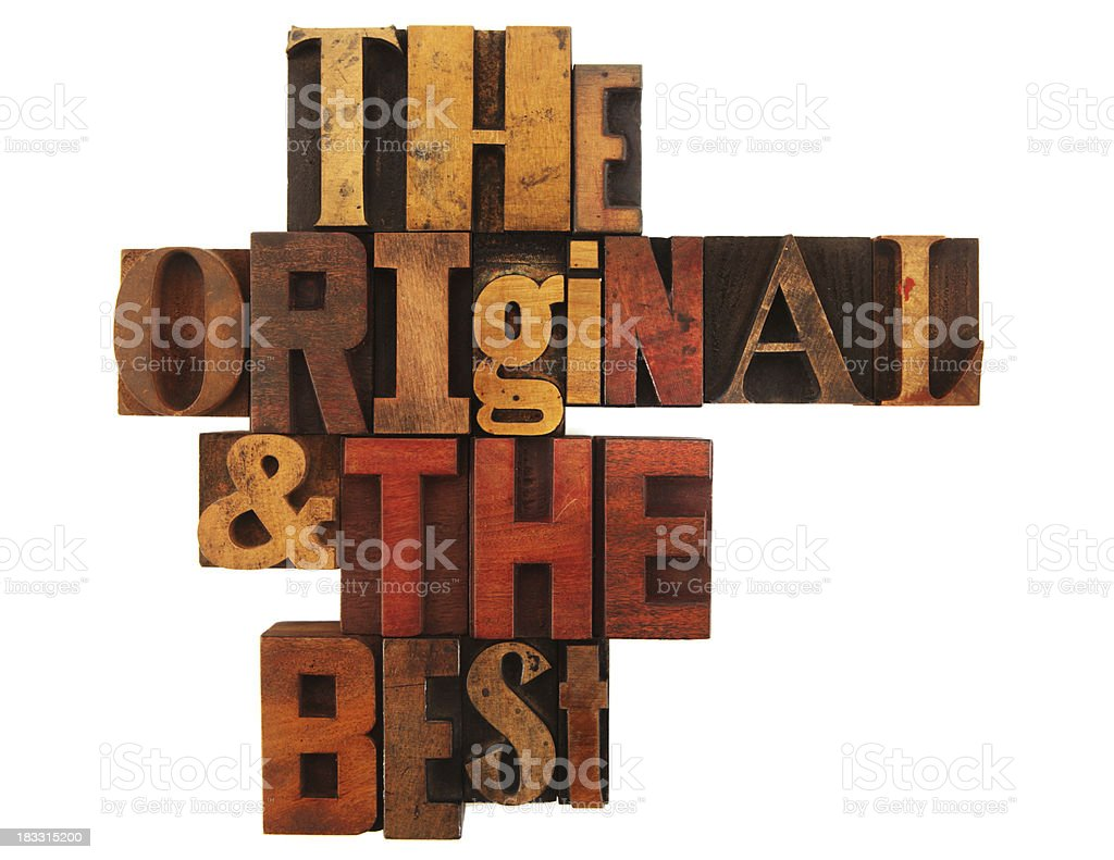 Letterpress - The Original and Best royalty-free stock photo