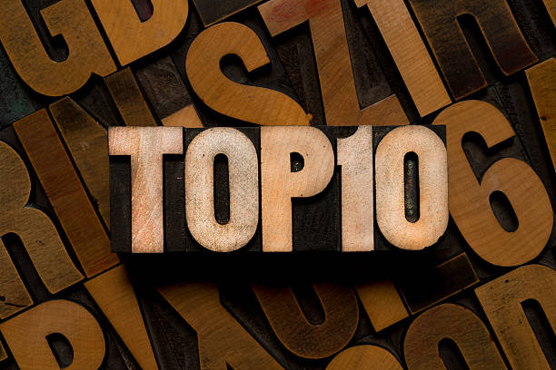 TOP 10 - letterpress type - foto stock