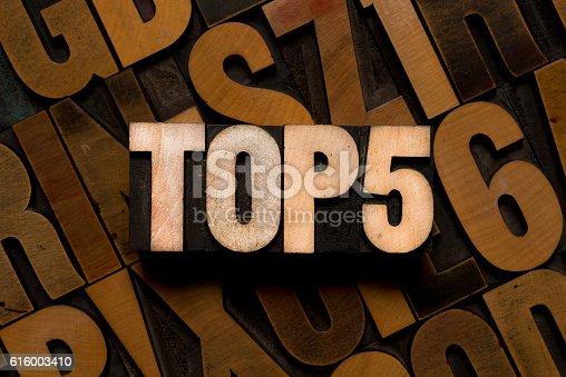 TOP 5 - letterpress type
