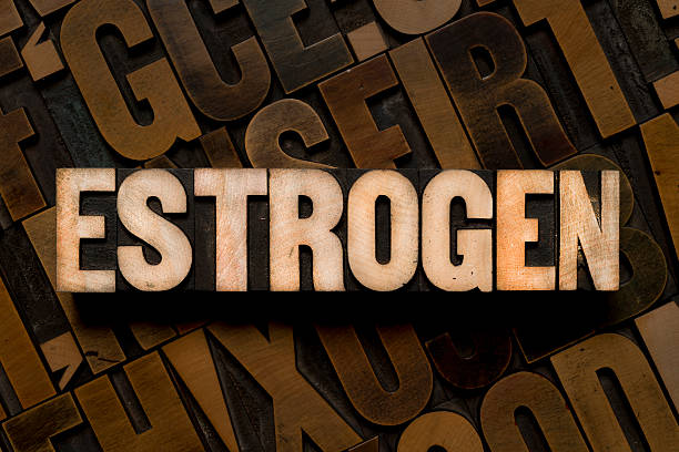 ESTROGEN - Letterpress type ESTROGEN - Letterpress type oestrogen stock pictures, royalty-free photos & images