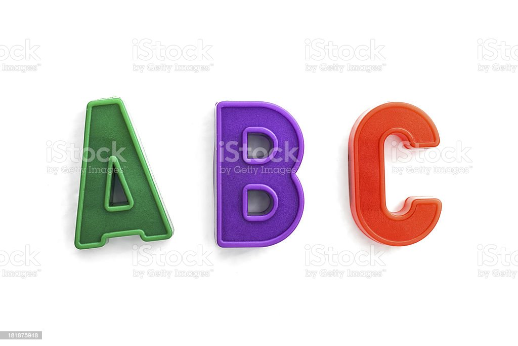 letters A, B, C alphabet royalty-free stock photo