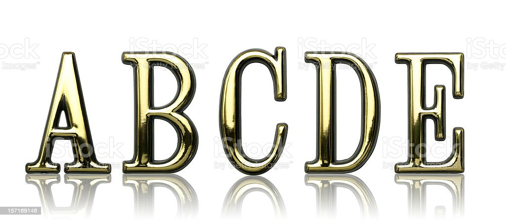 Letters - A B C D E royalty-free stock photo