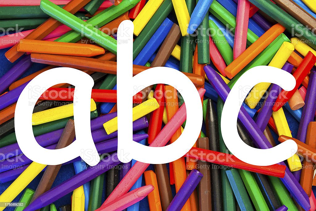 Letters a b c - school children. royalty-free stock photo
