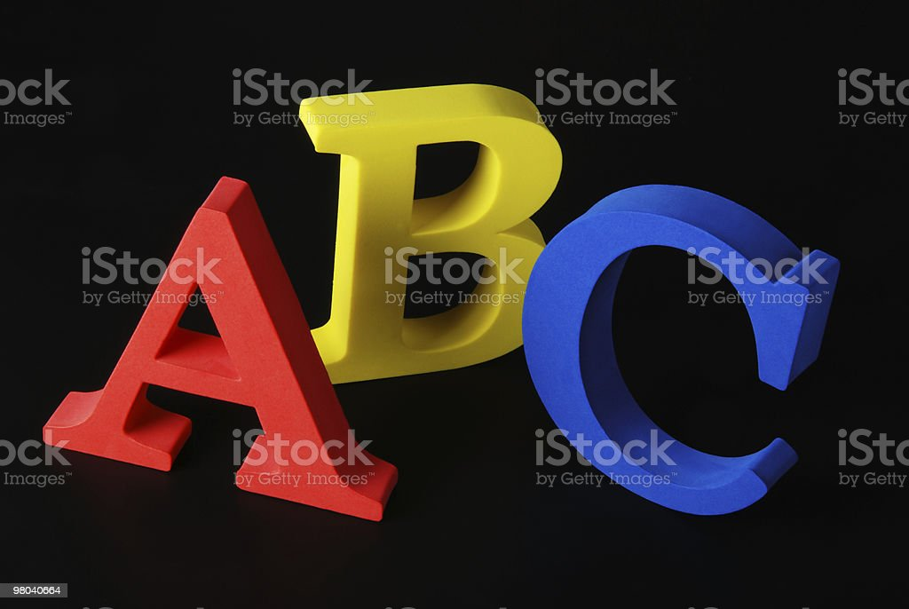 letters ABC royalty-free stock photo
