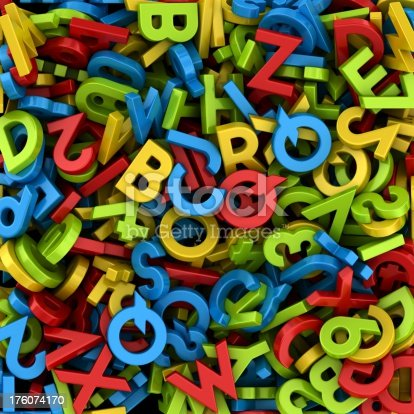 istock letters and numbers background 176074170