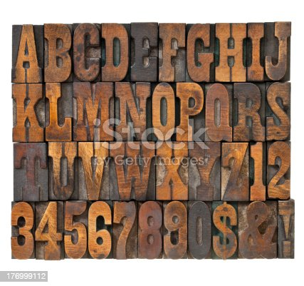 istock letters and numbers in vintage type 176999112