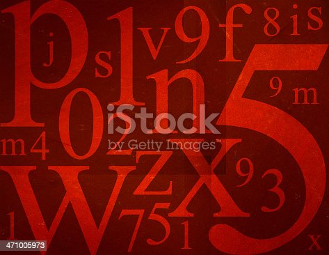 istock Letters and Numbers Mix 471005973