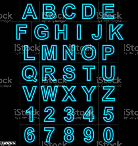 Letters and numbers neon lights outlined isolated on black picture id690604042?b=1&k=6&m=690604042&s=612x612&h=tpdwrdrlj yfrqdhv1lhttdktjuqyfqnsiydkmugxei=
