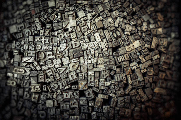 Letters and numbers stock photo