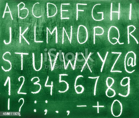 istock Letters and numbers. 458811929