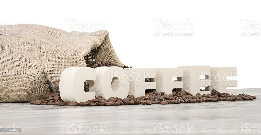 Letters Coffee royalty-free stock photo