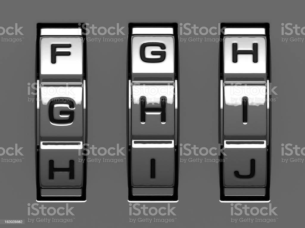 G, H, I letters from code alphabet royalty-free stock photo