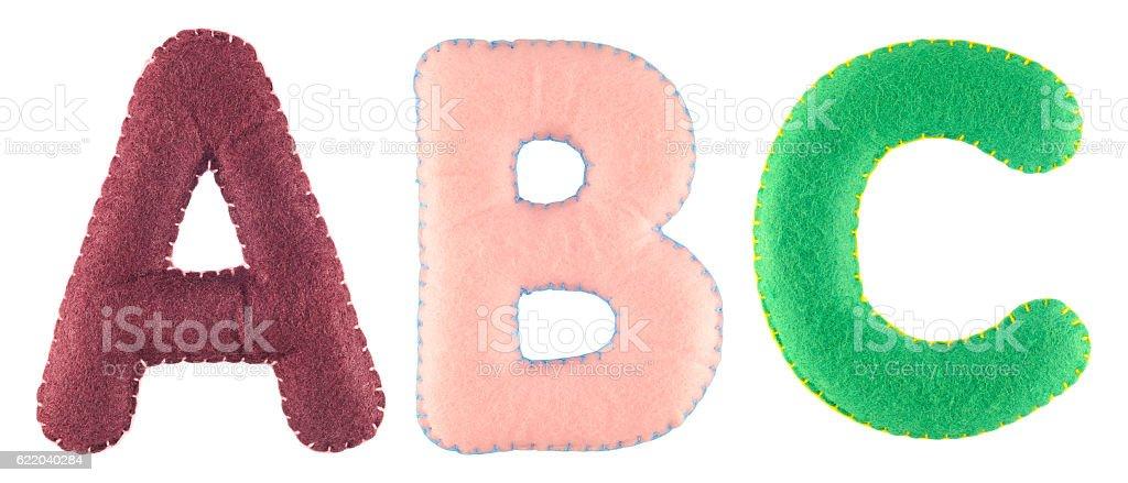 ABC letters from felt stok fotoğrafı