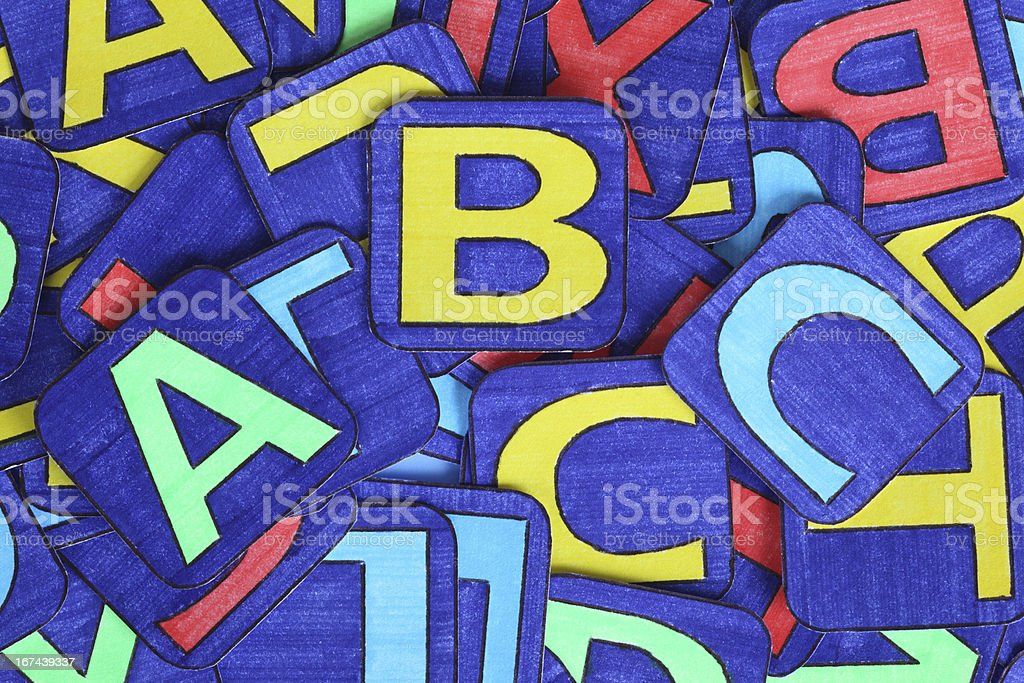 Letters Heap royalty-free stock photo