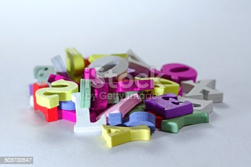 istock Letters mixture 503700547