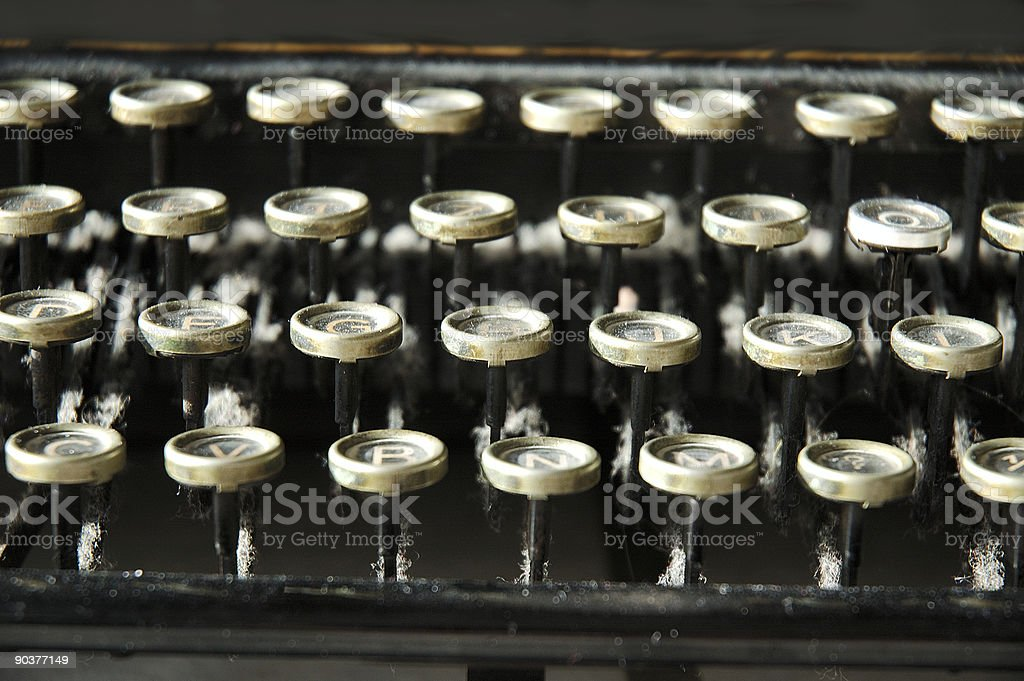 Letters of a typewriter royalty-free stock photo