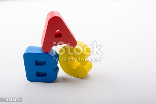 istock Letters of abc of alphabet on white color 1017343234