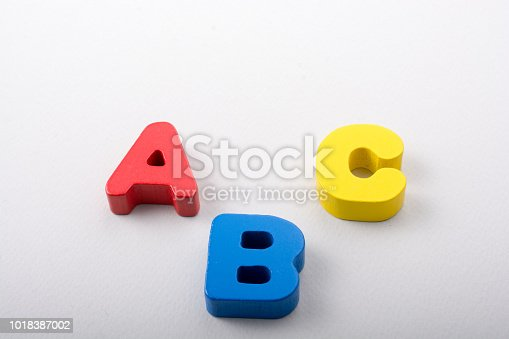 istock Letters of abc of alphabet on white color 1018387002