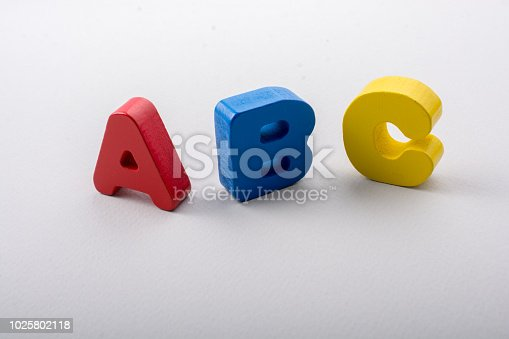istock Letters of abc of alphabet on white color 1025802118